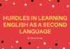 Hurdles in learning English as a second Language